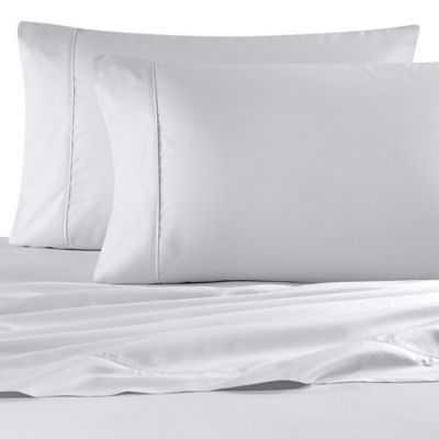 Wamsutta® 620-Thread-Count Egyptian Cotton King Sheet Set in White Dot - Bed Bath & Beyond