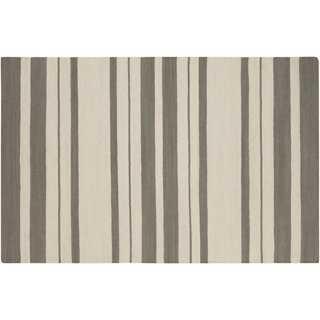 Rose Flat-Weave Rug, Ivory/Gray - One Kings Lane