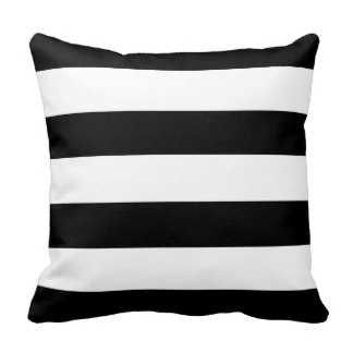 "Black & White Stripes Throw Pillow - 16"" - with insert - zazzle.com"