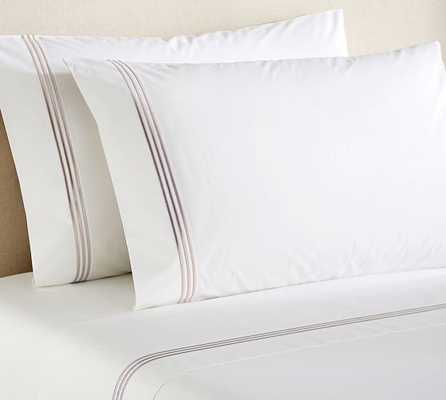 GRAND EMBROIDERED 200-THREAD-COUNT SHEET SET - KING - Pottery Barn