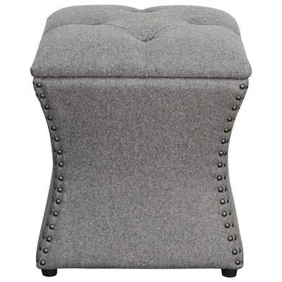 Amelia Upholstered Storage Ottoman - Cement - Wayfair