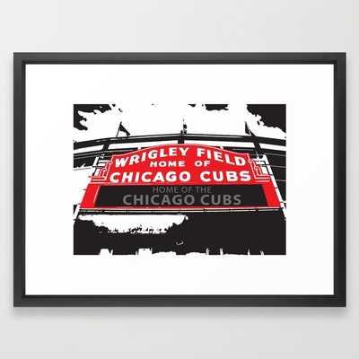 Chicago Cubs Wrigley Field Stadium - framed - Society6