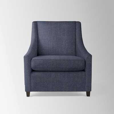 Sweep Armchair - Pebble Weave, Aegean Blue - West Elm