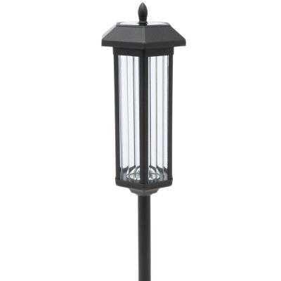60 in. Solar Garden Black LED Path Lights (2-Pack) - Home Depot