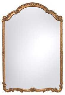 "28""x41"" Arch Detail Mirror, Gold - One Kings Lane"