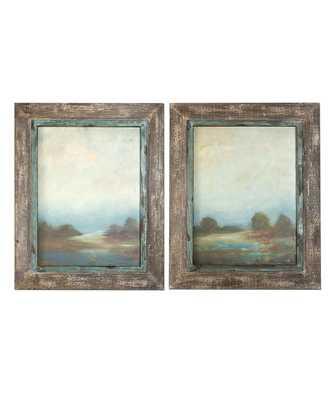 Morning Vistas Framed Oil Reproduction- 31x25, Framed - Bliss Home and Design