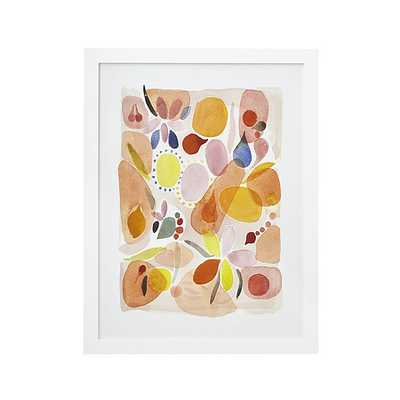 """Nectarine Print - 29.75""""Wx0.75""""Dx38.75""""H - Framed - Crate and Barrel"""