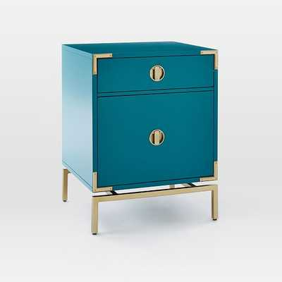 Malone Campaign Nightstand - Blue Teal - West Elm