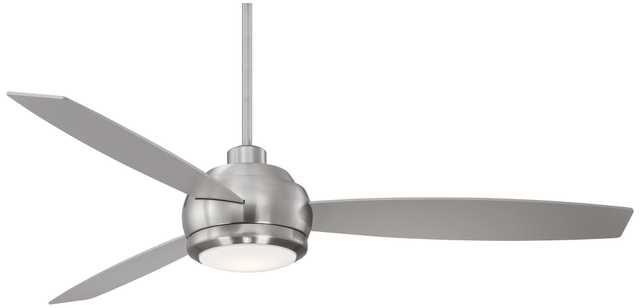 "60"" Casa Alesoâ""¢ Brushed Nickel LED Ceiling Fan - Lamps Plus"