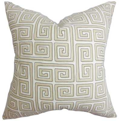 Klemens Greek Key 18-inch Feather and Down Filled Decorative Throw Pillow - Overstock