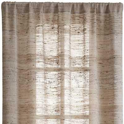 "Hayden 48""x108"" Silk Curtain Panel - Crate and Barrel"