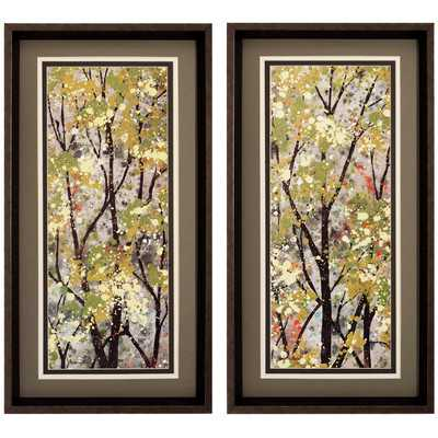 "Texture Summer 2 Piece Framed Painting Print Set - 26"" H x 14"" W - Wayfair"