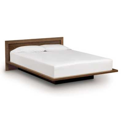 Moduluxe Bed with Low Panel Headboard - Walnut - Queen - AllModern