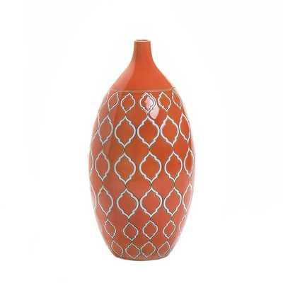 Moroccan Orange Vase - Overstock