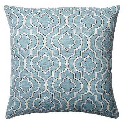 """Pillow Perfect Donetta Toss Pillow-Blue-18""""x18""""-Insert - Target"""