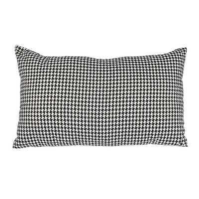 """Delano Décor Woven Houndstooth Cotton Lumbar Pillow - 12X20""""  - Polyfill - Wayfair"""