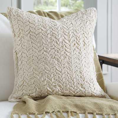 """Allie Velvet Quilted Pillow-20"""" H x 20"""" W -Polyester/Polyfill - Wayfair"""