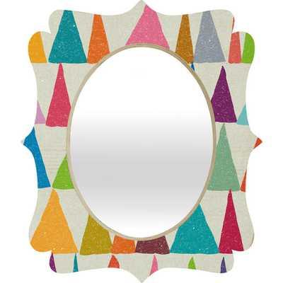 Nick Nelson Analogous Shapes in Bloom Quatrefoil Mirror - AllModern