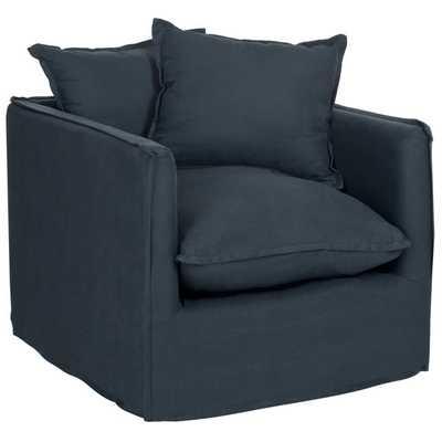Safavieh Joey Blue Pillow Club Chair - Overstock