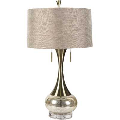 "Neveah 33"" H Table Lamp with Drum Shade - AllModern"