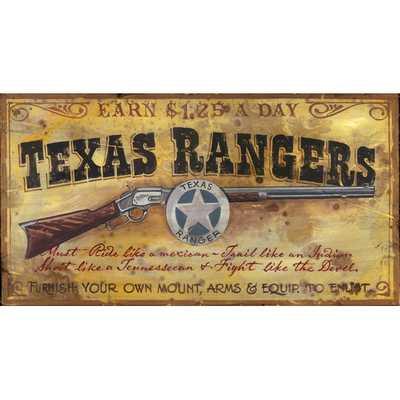 Texas Ranger Vintage Advertisement Plaque - Wayfair