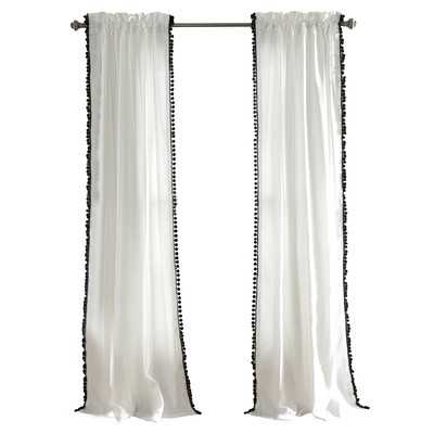 "Arianna Curtain Single Panel - Black - 84"" L x 50"" W - Wayfair"