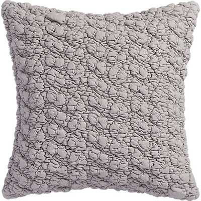 """Gravel light grey 18"""" pillow with feather-down insert - CB2"""