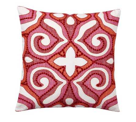 """ATHENA EMBROIDERED PILLOW COVER-20"""" sq-no insert - Pottery Barn"""