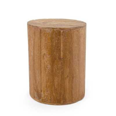 Albany Brown Round Side Table - Overstock