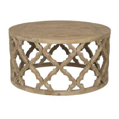 Bella Antique Clover Coffee Table - Wayfair