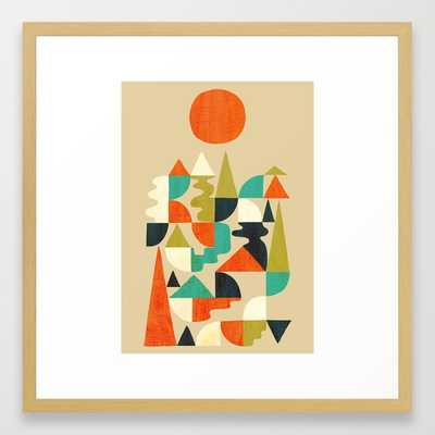 Mountains Hills and Rivers - Framed - Society6