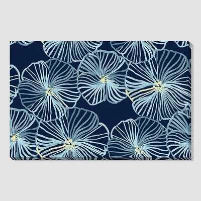 """Blue Water Lilies Print - 40""""w x 26""""h-Unframed - West Elm"""