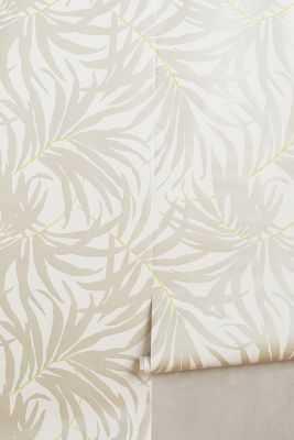 Frond Silhouette Wallpaper - Light Grey - Anthropologie