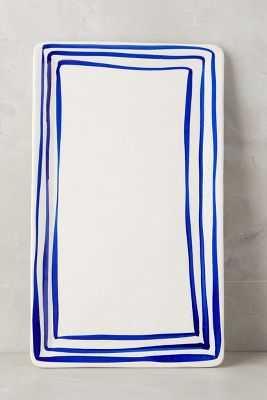 Prussian Stripe Tray - Anthropologie