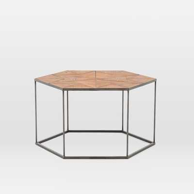 Faceted Wood Hexagon Coffee Table - West Elm