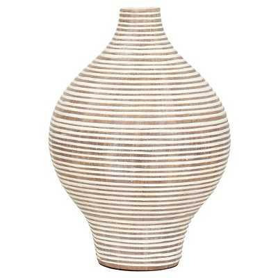 "Torre & Tagus Tall Columbo Teardrop Vase - 9.5"" - White - Target"