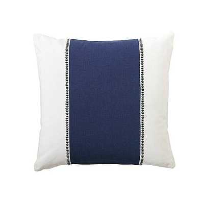 "Racing Stripe Pillow Cover - Navy-20""x20""-No Insert - Domino"
