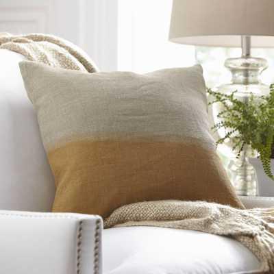 "Carson Linen Pillow Cover - Mustard - 18"" x 18"" - Insert Sold Separately - Birch Lane"