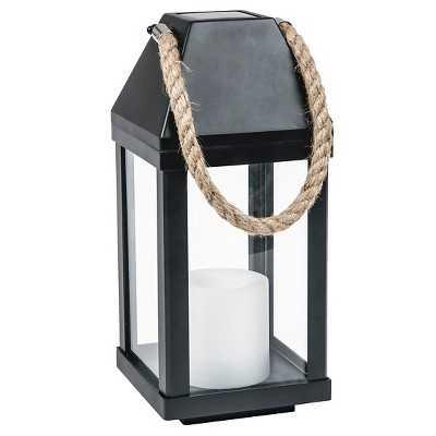 "Solar Lantern with Rope Handle Medium - Thresholdâ""¢ - Target"