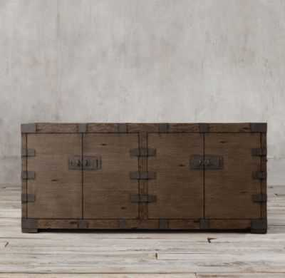 "HEIRLOOM SILVER-CHEST 72"" MEDIA CONSOLE - RH"