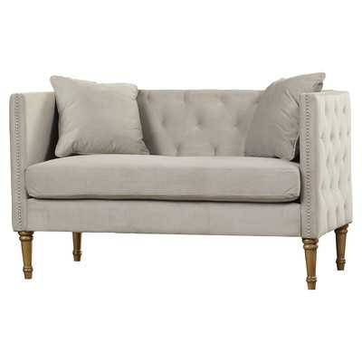 Vanves Tufted Loveseat - Grey - Wayfair