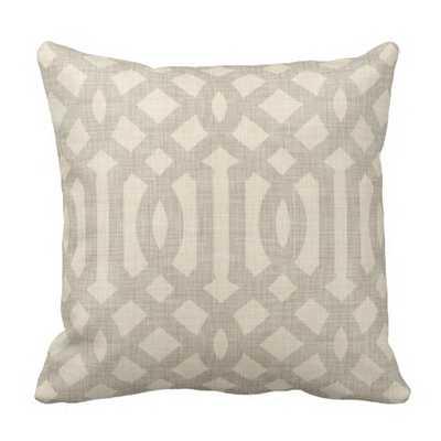 "Modern Trellis Throw Pillow - 16"" x 16"" - Synthetic-filled insert - zazzle.com"