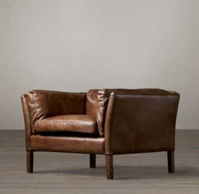 "SORENSEN LEATHER CHAIR - 33"" - Cocoa/Italian Brompton - RH"