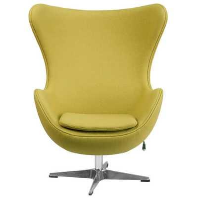 Wool Fabric Egg Lounge Chair - Citron - AllModern
