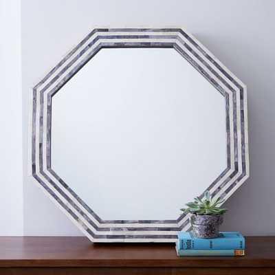 Parsons Octagonal Mirror - Gray Herringbone - West Elm