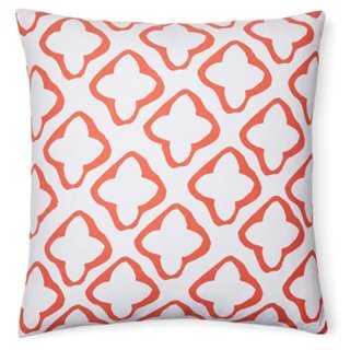 Moda 18x18 Cotton Pillow, Orange - insert - One Kings Lane