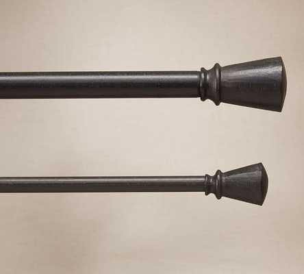 "Cast-Iron 0.75"" diam. Drape Rod Set, Extra Large, 96-120"" - Pottery Barn"