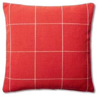 Window Pane Cotton Pillow - One Kings Lane