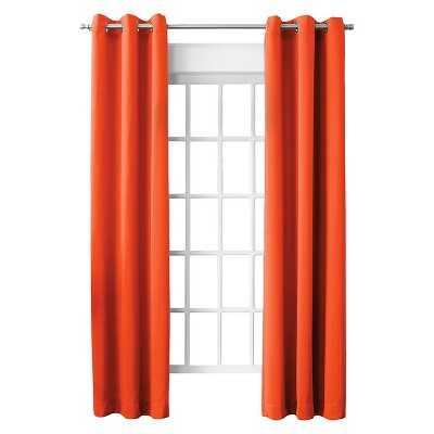 "Sun Zero Millennial Lazlo Room Darkening Grommet Curtain Panel - Tangerine - 40""W x 84""L - Target"