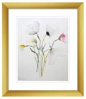 "Karin Johannesson, Transparent Petals - 11"" x 13""- Gold frame - One Kings Lane"